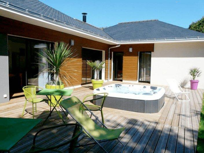 Spa Jacuzzi semi encastré à La Baule - Rêve de Piscine & Spa à Nantes Carquefou La Baule Loire Atlantique (44)